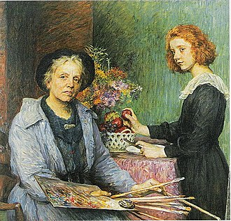 Louise Catherine Breslau - The Artist and Her Model