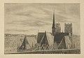 Louise Danse - Les toits de l'église Sainte Gudule à Bruxelles - Graphic work - Royal Library of Belgium - S.III 8178.jpg