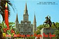 Louisiana Greeting Card, Merry Christmas and Happy New Year, The St Louis Cathedral and Jackson... (NBY 8218).jpg