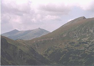 Low Tatras - Mount Ďumbier (right) and Mount Chopok (middle)