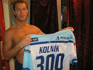 Ľubomír Kolník Slovak ice hockey player