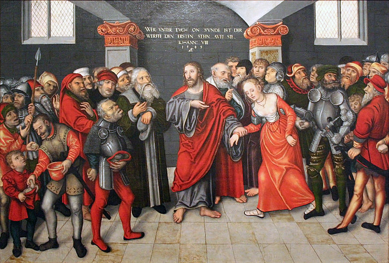 File:Lucas Cranach d. J. - Christus en de overspelige vrouw.JPG