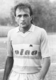 Luciano Spalletti con la maglia dell'Entella Bacezza di Chiavari durante il campionato di Serie C2 1985-1986.