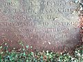 Lucy Townsend and Rev Charles Townsends grave in Thorpe Notts in 2015.jpg