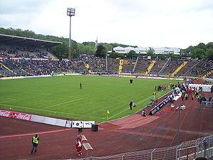 Ludwigsparkstadion - Gegentribüne und D-Block