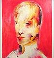 "Luigi Mor, Testa ""rossa"" (2003), olio su tavola, cm 160 x 120.jpg"