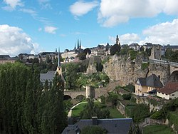 Luxembourg City straddles several valleys and outcrops, making the city's layout more complicated.