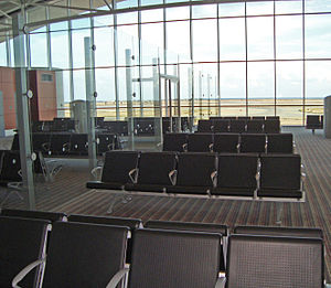 Gate (airport) - Image: Luxurious gate at Terminal of Larnaca International Airport in the Republic of Cyprus