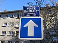 Lyon 9e - Place Maurice Bariod - Plaque et sens unique (fév 2019).jpg