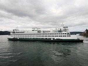 MV Yakima - M/V Yakima departing Orcas Island.