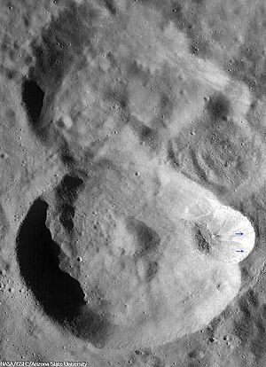 Virtanen (crater) - LRO WAC image