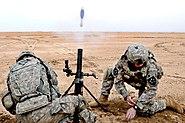M224 mortar firing