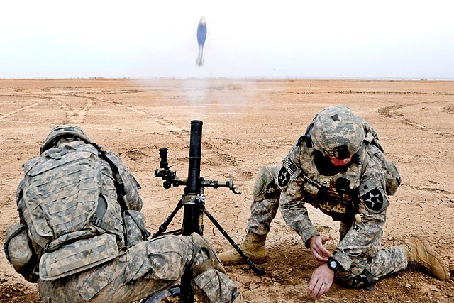 Military Mortar Sizes : File m mortar firing g wikimedia commons
