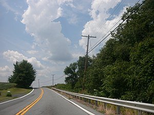 Maryland Route 28 - MD 28 westbound near the village of Tuscarora