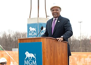 Rushern Baker - Baker at the opening of MGM National Harbor