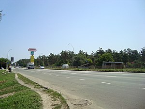 Highway M01 (Ukraine) - M 01 road exiting Kyiv