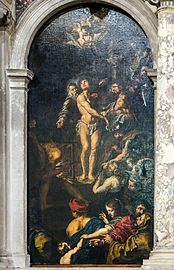 Madonna dell'Orto (Venice) - Martyrdom of St. Lawrence, by Daniel van den Dyck.jpg