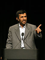 Mahmoud Ahmadinejad, current President of Iran