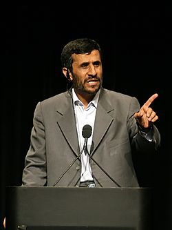File photo of Mahmoud Ahmadinejad, 2007. Image: Daniella Zalcman.