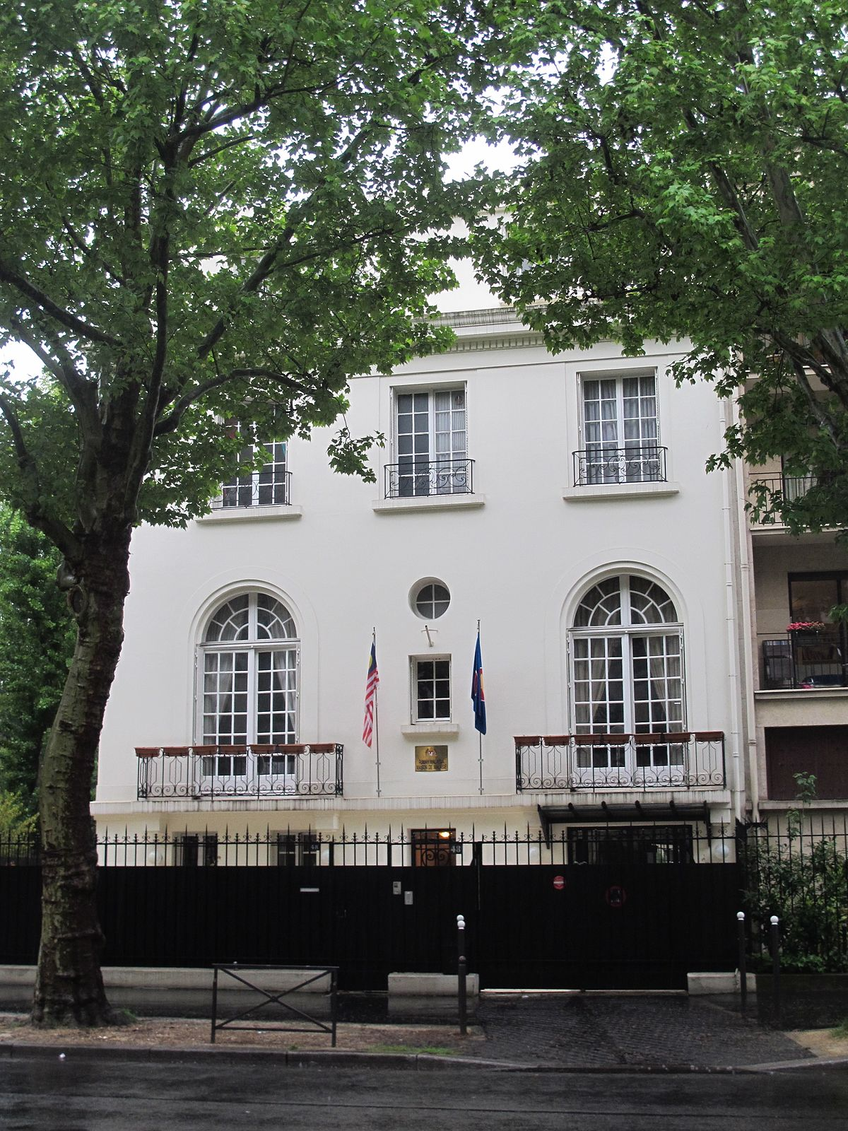 Embassy of malaysia paris wikidata for Acheter maison paris 16