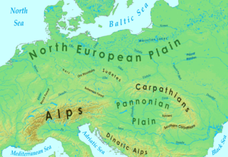Central Europe Wikipedia - Europe physical map