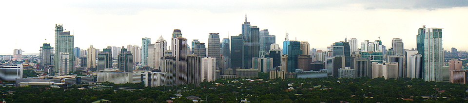 image of the Makati business district, borrowed from wikipedia.org