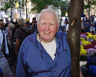 Malachy McCourt - McCourt at the October 2011 Occupy Wall Street