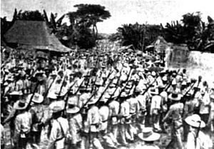 Capture of Malolos - Filipino soldiers in Malolos