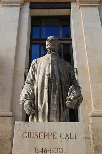 Giuseppe Calì - Monument to Giuseppe Calì at the Upper Barrakka Gardens