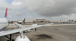 Malta International Airport from tarmac.JPG