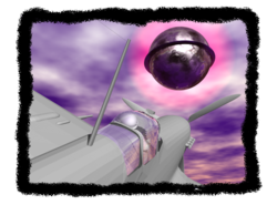 Computer-generated depiction of the Mantell incident, in which a US Air Force pilot died in pursuit of a UFO in 1948. Image: Crobard.