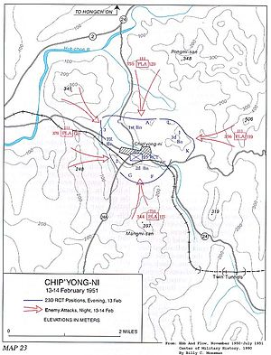 Battle of Chipyong-ni - Image: Map Chipyong ni