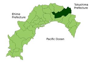 Location of Kami in Kōchi