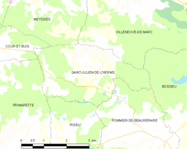 Mapa obce Saint-Julien-de-l'Herms