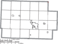 Map of Coshocton County Ohio Highlighting Baltic Village.png