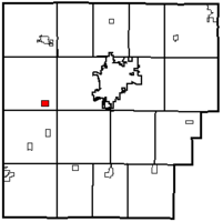 Location of Benton Ridge in Hancock County