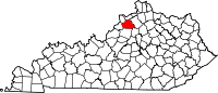 Map of Kentucky highlighting Henry County