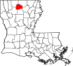 State map highlighting Lincoln Parish