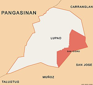 San Isidro, Lupao, Nueva Ecija - This map shows the map of Barangay San Isidro, Lupao, Nueva Ecija in the Philippines.