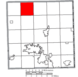 Location of Bloomfield Township in Trumbull County