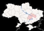 Oblast di Dnipropetrovsk - Mappa di localizzazione