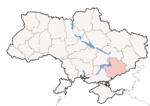 Oblast di Zaporižja - Mappa di localizzazione