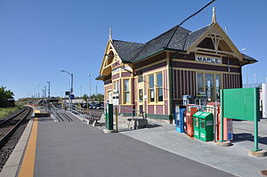 Maple, Ontario - The building at the Maple GO Station is a federally designated heritage railway station