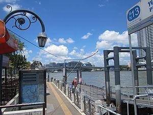 Chao Phraya Express Boat - Phra Arthit Pier (N13) Siriraj Hospital is ahead.