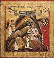 Margaritone d'arezzo, madonna col bambino in trono e scene religiose, 1263-64 ca. 04 s. caterina decollata e trasportata sul sinai.jpg