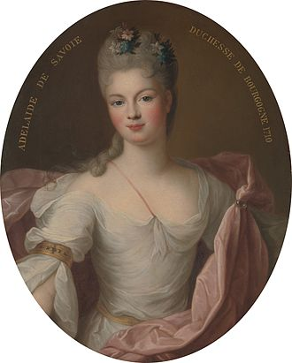 Marie Adélaïde of Savoy - Marie Adélaïde, Duchess of Burgundy, by Pierre Gobert, 1710