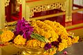 Marigold offerings at Wat Traimit (6491906375).jpg