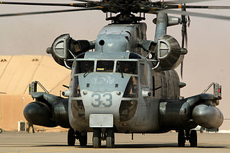 HMH-463 - A CH-53 Sea Stallion from HMH-463 taxiing in Iraq in June 2006