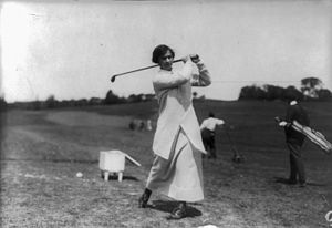 Marion Hollins - Hollins playing golf.