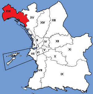 16th arrondissement of Marseille - Image: Marseille Arrondissements 16